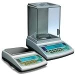 Balanzas para medir densidad en líquidos y en sólidos.