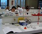 Uso de las balanzas de escuela en la universidad de Bochum.