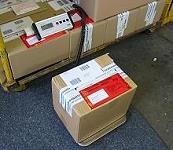 Uso de las balanzas de mesa como balanzas para paquetería.