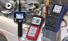 Aparatos de medición para automóviles como osciloscopios.