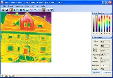 Las cámaras termográficas se entregan con el software de valoración correspondiente.