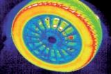 Imagen realizada en un automóvil con las cámaras termográficas.