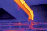 Imagen realizada en conducciones de vapor con las cámaras termográficas.