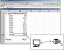 Componente opcional para los densimetros: software y cable de datos.