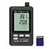 Detectores de humedad con logger de datos de 2 canales para mediciones prolongadas de temperatura y humedad relativa con interfaz RS-232 y pantalla (memoria de 64 k).