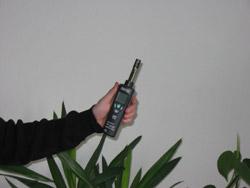 Modo de empleo de los detectores de humedad.