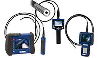 Endoscopios para el peritaje visual de componentes de máquinas (también con cámara para realizar la documentación pertinente)