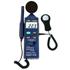 Indicadores de Humedad 4 en 1 compuestos por un medidor de nivel sonoro, un luxómetro, un medidor de humedad y un medidor de temperatura.