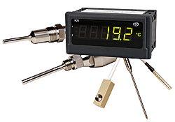 Los indicadores de temperatura procesan la señal de los sensores de temperatura y los indican en pantalla.
