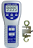 Medidores de fuerza para fuerza de tracción y de compresión hasta 100 kg / 981 N con célula dinamométrica externa y puerto de conexión RS-232 para la transmisión de datos.