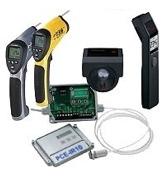 Estos medidores láser para temperatura miden solamente la temperatura supercial de superficies visibles.