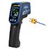 Medidores láser para temperatura PCE-779N de -60 ... +760 ºC incl. medición por termopar hasta 1400 ºC, emisividad ajustable, láser doble