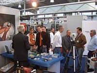 Instrumentos de medida en la Feria MIAC en Italia.