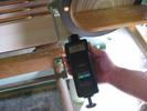 Visualización de la medición realizada con los tacómetros de mano.