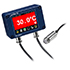 Termómetros infrarrojos PCE-IR 54 miden la temperatura superficial sin contacto, pantalla OLED, Modbus seleccionable, rango de -20 ... 1000 ºC