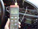 Termómetros para realizar mediciones en coches.