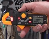 Los tester de cables serie PCE-DC3 en uso.