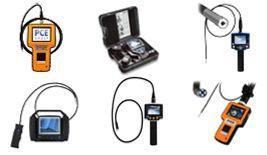 Video-endoscopios para el peritaje visual de componentes de máquinas (también con cámara para realizar la documentación pertinente)