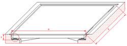Vista del marco de la balanza empotrada de acero inoxidable