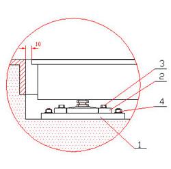 Montaje de la balanza empotrada de acero inoxidable