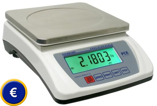 Balanza digital pce bsh 10000 for Bascula de precision cocina
