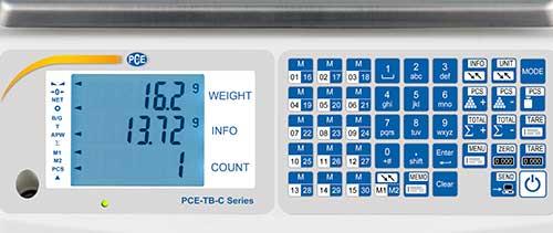 Teclado de la balanza de mesa profesional serie PCE-TB C