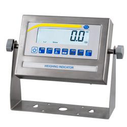 Parte frontal de la pantalla de la balanza de plataforma serie PCE-EP P