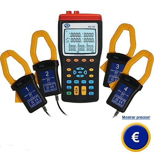 Más información acerca del amperimetro de 3 fases PCE-360.