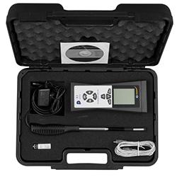 Contenido del envío del maletín del termo anemometro PCE-423