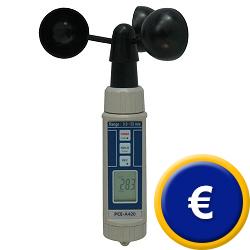 Anemómetro rotativo para velocidad de aire PCE-A420