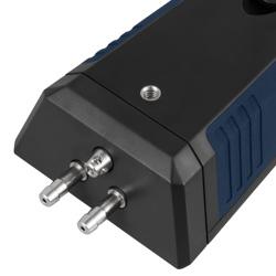 El anemometro con tubo de pitot integra una rosca en la parte posterior, lo que permite montarlo sobre un trípode