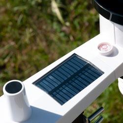Módulo exterior con panel solar