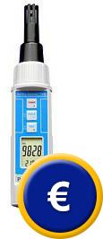 Barómetro multifuncional PCE-THB 38, perfecto para la captación de temperatura, humedad y presión atmósferica.