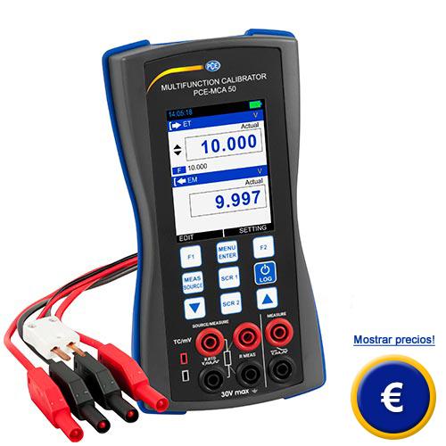 Más información acerca del calibrador universal PCE-MAC 50