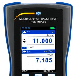 Pantalla LCD del calibrador universal