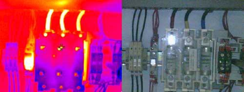 Usando la cámara infrarroja en el mantenimiento preventivo de un armario de distribución