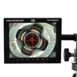Pantalla de la cámara microscópica
