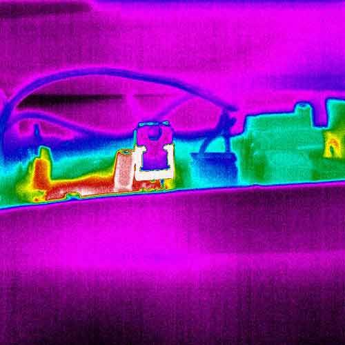 Por último una imagen en Rainbow tomada con la cámara térmica PCE-TC 34