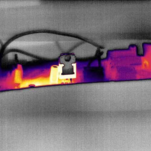 Visualización en Die hot red con la cámara térmica PCE-TC 34