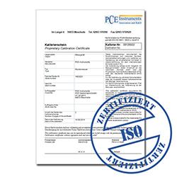 Certificado de calibración ISO del medidor de dureza Leeb PCE-900