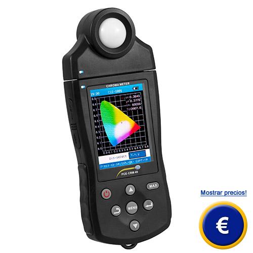Más información acerca del colorimetro PCE-CRM 40
