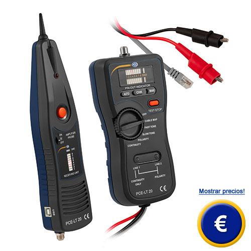 Más información del comprobador de cables PCE-LT 20