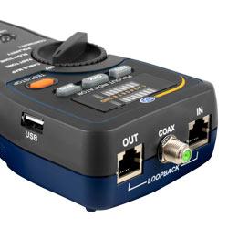 Conexiones de la unidad principal del comprobador de cables