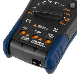 Bloque de conexión del comprobador LAN con función multímetro PCE-LT 12