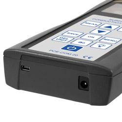 El conductímetro se alimenta a través del acumulador interno.