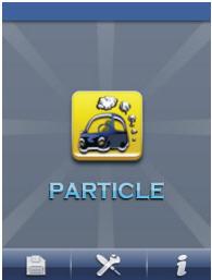 Indicación en pantalla del contador de partículas PCE-PCO 1