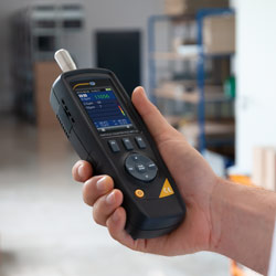 Ejemplo de uso del contador de partículas PCE-MPC 20
