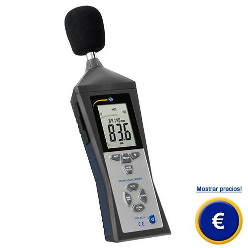 Más información acerca del decibelímetro PCE-322A con memoria y software.