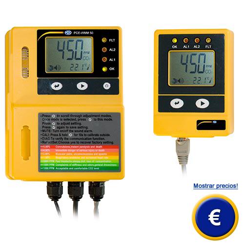 Más información acerca del detector de CO2 PCE-WMM 50