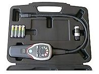 Contenido del envio del detector de gas refrigerante PCE-LS 1 en su maletín.